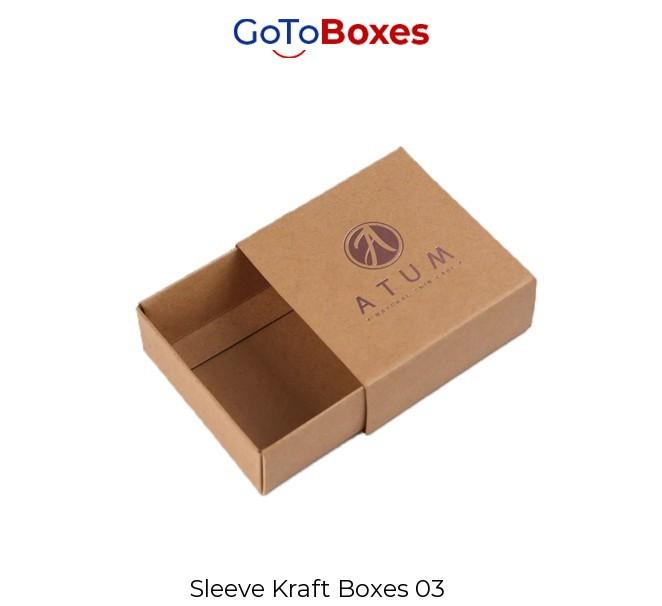 Custom Printed Kraft Boxes Packaging Wholesale